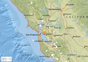 Earthquake shakes Bay Area awake early Thursday