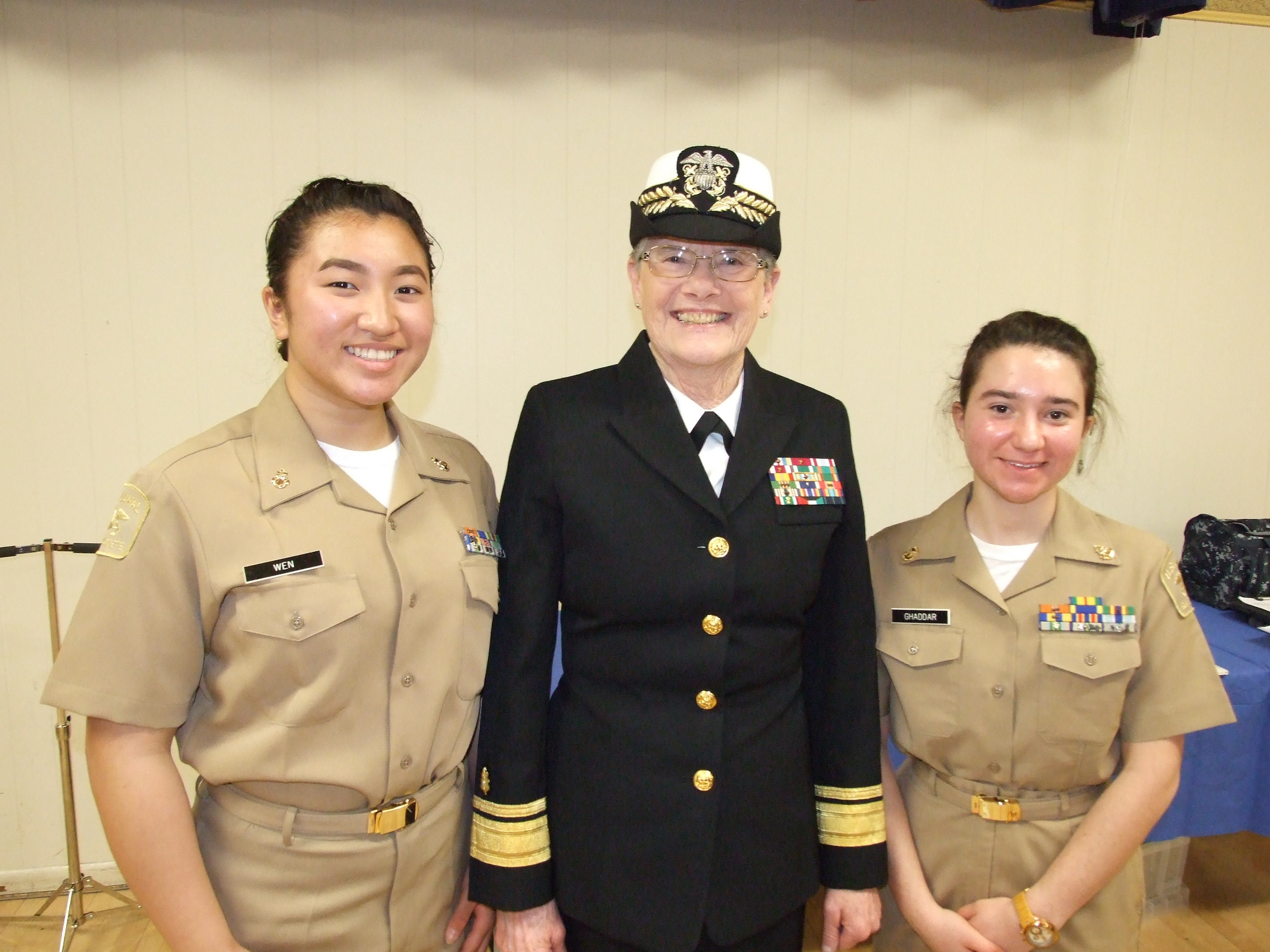 Trailblazing Admiral instructs sea cadets in leadership