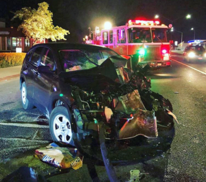 Two injured in collision at Woodside Road, Central Avenue