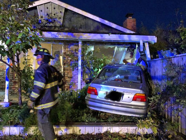 No injuries after car crashes into home on Farm Hill Blvd.