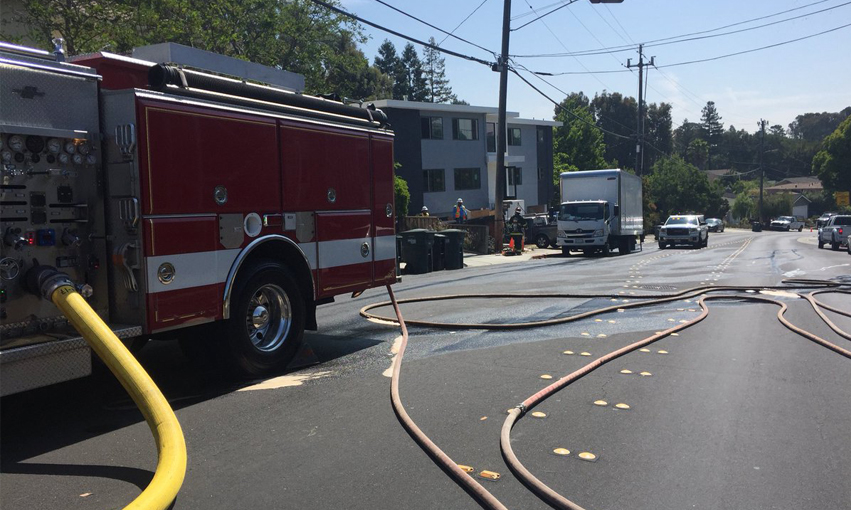Gas leak leads to temporary closure of Canyon Road in Redwood City