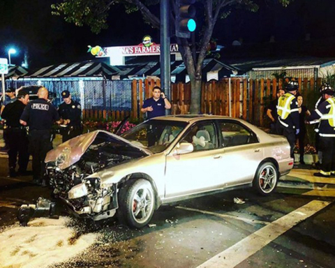 One injured in two-car crash at Middlefield Road and Charter Street