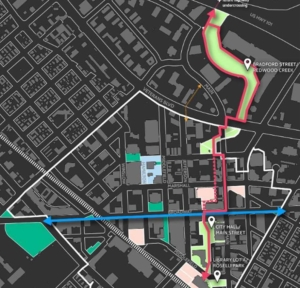 Redwood City set to design large, linear park extending from downtown to Bay