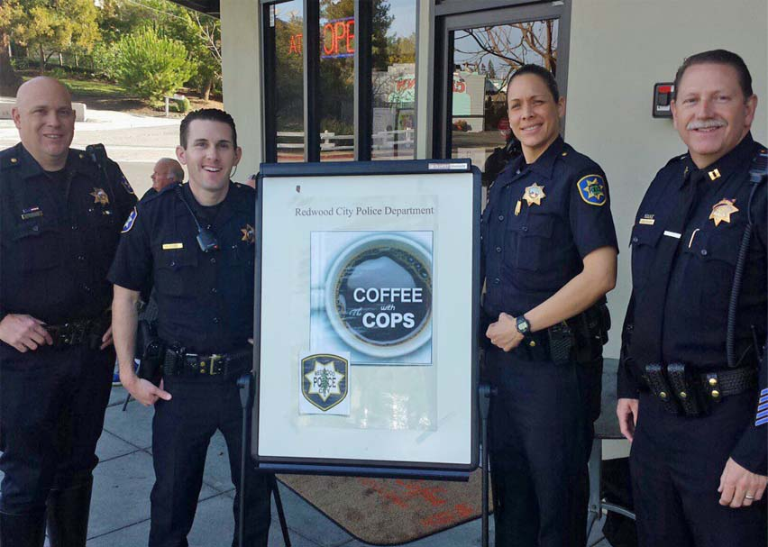 Redwood City cops headed to Starbucks on National Coffee with the Cops Day