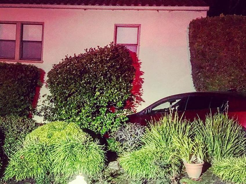 No injuries when car strikes home in San Carlos