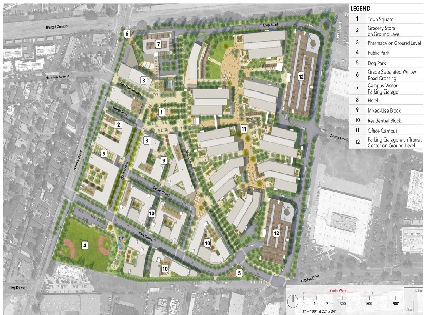Facebook submits updated plans for Willow Village development ... on