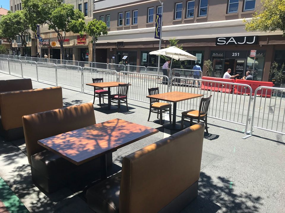 San Mateo transitions parking spaces into outdoor dining