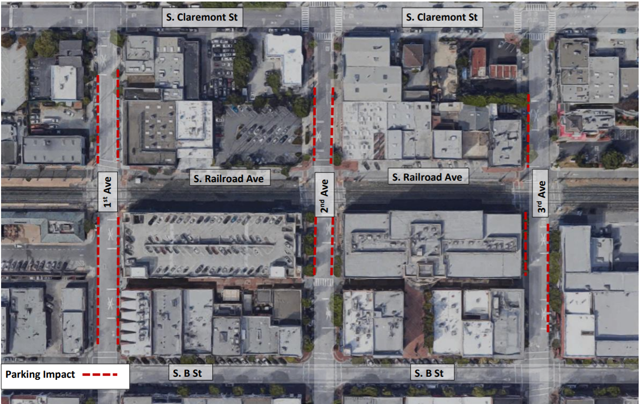 Project to improve at-grade crossings in San Mateo to impact parking