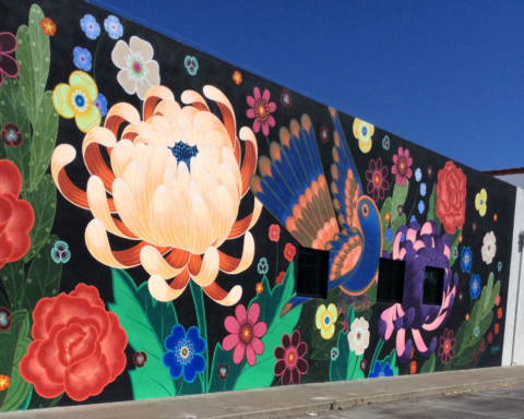 Colorful 100-foot-long mural brightens downtown Redwood City