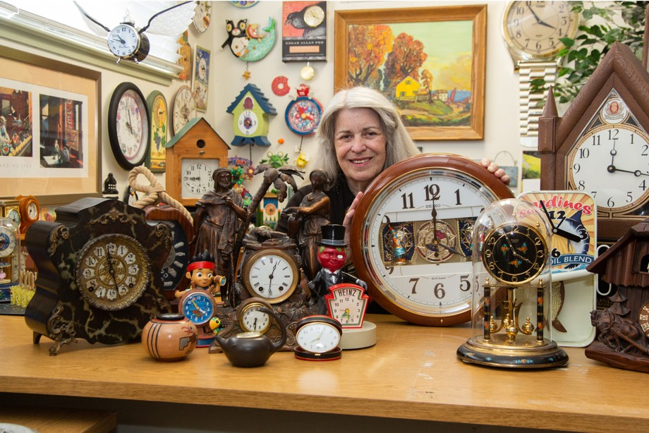 With This Many Clocks, Collector Gail Waldo's Not Counting