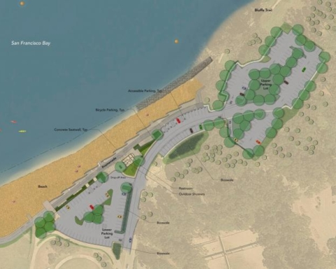 Coyote Point eastern promenade construction on schedule